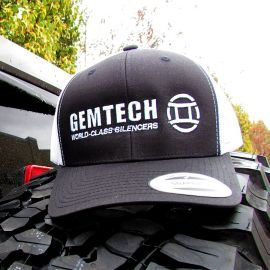 GEMTECH Black and White Trucker Hat
