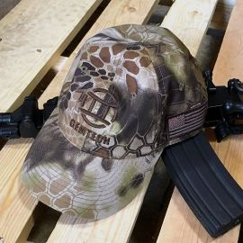 GEMTECH Highlander Velcro Back Hat w/Brown Logo